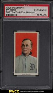 1909-11 T206 Ty Cobb RED PORTRAIT PSA Altered