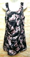 H.M Women Size 8 Floral Sheath Mini Ruched Sleeveless Party Cocktail Dress . 93