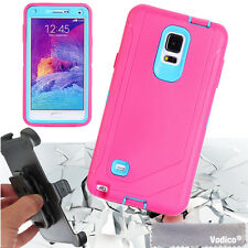 Hybrid Heavy Duty Shockproof Defender Case For Samsung Galaxy Note 4 with Clip