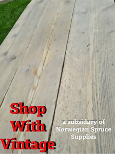 """8FT Rustic Reclaimed Pine Interior Shelving Boards X 8 Inch X 1 1/2"""" Sanded"""