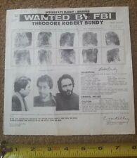 **ORIGINAL** 1978 Serial Killer TED BUNDY FBI Wanted Poster – Rare!!