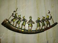 African Ladies Tribal Women Village Girls Brass Tribe Wall Hanging Decor RD44