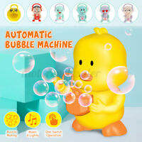 Bubble Machine Kids Automatic Bubble Blower Music Lighting Toys Gift