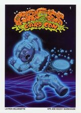 2018 GROSS CARD CON / GARBAGE PAIL KIDS Exclusive TRON Signed Card LAYRON