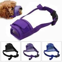 Adjustable Nylon Dog Safety Muzzle Biting Barking Chewing Small Medium Large UK