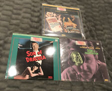 Son Of Dracula And Frankenstein - The Raven And Black Cat Bela Lugosi 3x Lot