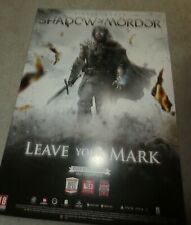 PS3 Lord Rings Shadow Mordor Lotr Promo poster A2 size double sided shop display