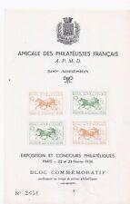 bloc feuillet exposition philatelique paris 1936 **5