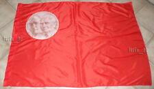 East german GDR DDR SED Flag w. first President Pieck +communist Ernst Thälmann
