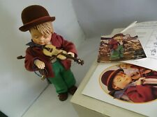 """Large M.I. Hummel Figurine Little Fiddler - 14"""" Tall New In Box with Poster"""