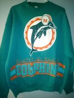 Vintage Rare NFL 1995 Miami Dolphins  Sweatshirt XL  football