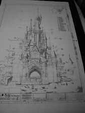 Sleeping Beauty Castle Euro Disney land Blueprints -4 Prints - NO, SO, EAST&WEST
