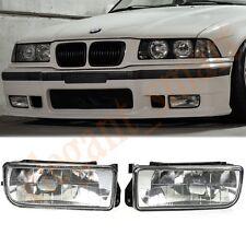 1 Pair Of Clear Glass Lens Fog Light No Blubs For BMW E36 3Serie 1992-1998