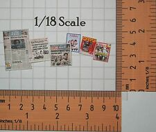 Ghostbusters 1/18 scale Magazines from Movie Montage - magazines open!