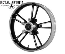 "23"" inch Black Contrast Custom Motorcycle Wheel ENFORCER for Harley Davidson"