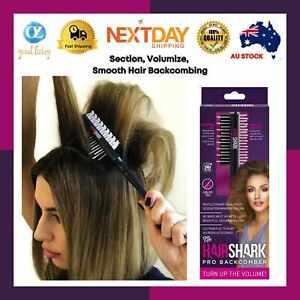 Hair Shark PRO BACKCOMBER*AS SEEN ON TV*Hair Volumising*Brush*Double-Sided*Shine