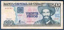 BILLET de BANQUE de 20 PESOS Pick n° 122.d de 2007 en TB CJ-07 699162