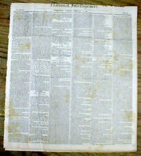 1835 DC newspaper w 1st attempt to ASSASSINATE a US PRESIDENT - ANDREW JACKSON