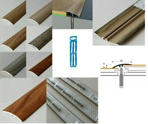 Dural Multifloor Door Bar Threshold  Strip Cover  Laminate Floor - 1m (42-50mm)