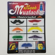 Accoutrements Self-adhesive Mood Mustaches (7 Individual Mustaches) #12100