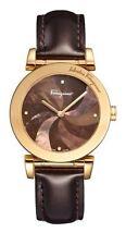 Ferragamo Women's F50SBQ5043 S497 Salvatore DIAMOND Brown MOP Dial Leather Watch