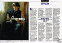 Coupure de presse  Clipping 1989 (2 pages) Patrick Bruel