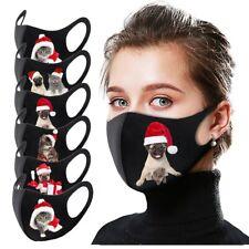 animal de Noël respirant Masque de protection lavable réutilisable