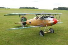 Giant 1/6 Scale German WW-I Albatross D.V Biplane Plans and Templates 60ws