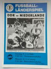 Orig.Programm DDR Niederlande Nederland 12.03.1986 Leipzig DDR programma GDR