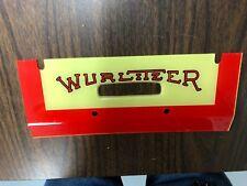 Wurlitzer one more time Plastic