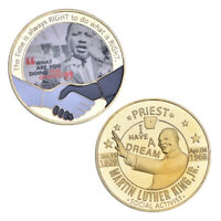 WR 1929-1968 Martin Luther King Jr. Moneda de oro PREMIO NOBEL DE LA PAZ