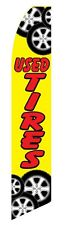 Tires Used Swooper Flutter Feather Advertising Sign 2.5' Wide Banner Flag Only