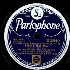 HARRY PARRY RADIO RHYTHM CLUB SEXTET  Basin Street Ball / Blue Prelude  X1108