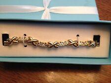 AVON Sparkling Tennis Bracelet Goldtone In Special Packaging NEW
