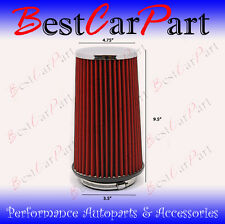 "3.5 Inches 89 mm Cold Air Intake Cone Truck Filter 3.5"" New RED Jeep"