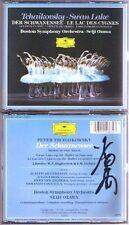 Seiji OZAWA Signed TCHAIKOVSKY Swan Lake Schwanensee Complete Ballet DG 2CD 小澤征爾