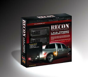 Recon SMOKED for Ford Superduty 11-18 & Dually Fender Lights # 264136BK