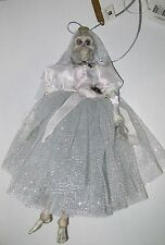 """Katherine's Collection Halloween Skeleton Bride 9"""" Day of the Dead Doll Ornament"""