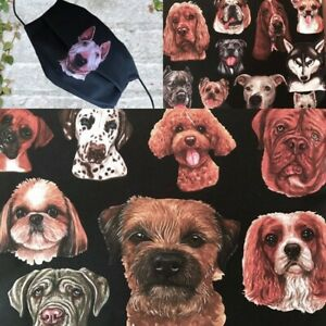 BLACK Face mask Double Layered DOGS STAFFY CANE CORSO SHIH TZU   posted 1 day