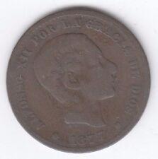 España 10 diez centimos 1879 Alfonso XII de cobre