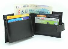 New Mens Genuine Leather Wallet With Multi Card, ID Window And Zip Pocket #04