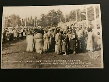 Pow Wow at Menominee Indian Summer Festival / Shawano, WI-Vintage Photo Postcard