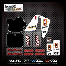 Suzuki RM 125 250 89 Chesterfield Elf Kit White Decal Sticker Evo MX (280)