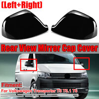 PAINTED BLACK for VW Transporter T5 T5.1 T6 Wing Mirror Cover Cap CANDY  LH+RH