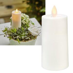 LED Kerze bewegter Flamme 11x5 für Laterne mit TIMER Außen Garten Balkon Outdoor