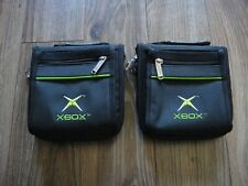 2 Original Official Microsoft Xbox 20 Game Disc Holder Travel Storage Case