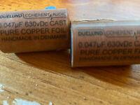 Jensen Duelund 0.047uF Pair Cast Pure Copper Foil Capacitor