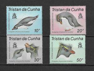 TRISTAN DA Cunha 1987 Rockhopper Penguin set of 4  MINT NH