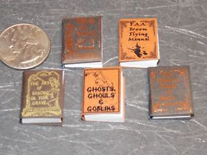 Dollhouse Miniature Halloween Books NOVEL IDEA 1:12 scale F63 Dollys Gallery