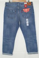 New Levi's Women's 501 Taper Button Fly Partner In Crime Wash # 361970009